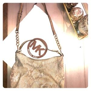 Authentic Michael Kors Large Snakeskin Bag